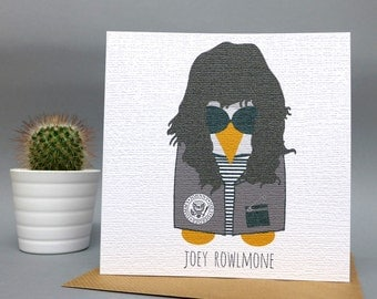 Joey Rowlmone Greetings Card (Joey Ramone)
