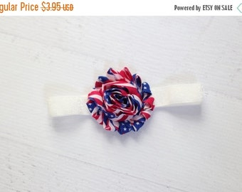 SUMMER SALE Baby girl 4th of July Headband, Patriot headband, Fourth of July Headband, Baby Girl Headband, Summer Headband, Baby Shower Gift