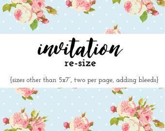 Invitation Re-size