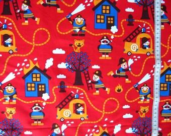 Fireman Quilt Fabric Etsy