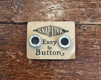 Vintage 1920s NOS Eversnap Button Cufflinks