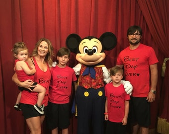 "FAMILY ""Best Day Ever"" Disney World Shirts"