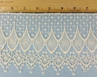 Venise lace, 4.5 inch wide Ivory