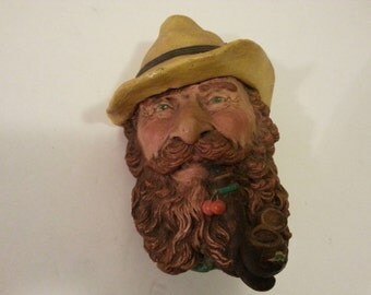 Chalkware Tyrolean Alps Man Wall Hanging