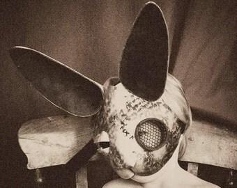Brass steampunk rabbit masquerade mask
