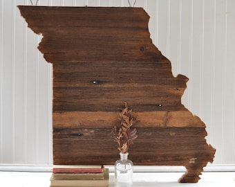 Barn Wood Missouri Wall Hanging Sign - Rustic Wooden State Art