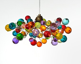 Multicolored pendant light with bubbles for living rooms, Kitchen island, Bedroom or as a bedside light - unique lighting