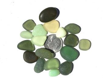 Genuine Sea Glass, Green, Natural,  Beach Stones, Cabs, Gemstones, Seaglass, Gift