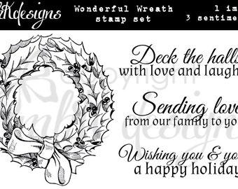 Wonderful Wreath Digital Stamp Set