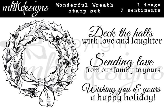 Wonderful Wreath Digital Stamp Set
