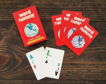 word rummy • word game | card game • complete with original box • 1950's educational cards