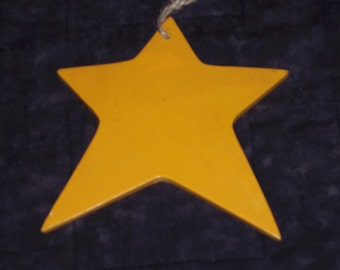 "Asymetrical Star,painted resin,large 5.5 "" by 6"",ornament blank ready to decorate or embellish,primitive,July Fourth,Christmas,"