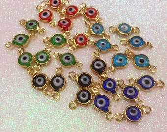 Lucky Eye, Gold Filled Lucky Eye, Evil Eye, Gold Filled Evil Eye Connector,Blue Lucky Eye,Red, Lucky Eye,Lucky Eye Connector,Lucky Eye Charm