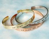 No Mud No Lotus Bracelet. Handstamped Custom Jewelry. Personalized Bracelet. Yoga Bracelet.