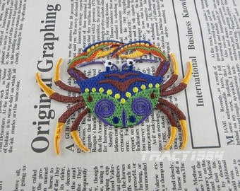 Crab Iron on Patch Embroidery Appliques