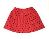 Twirl Skirt - Girls Skirt - Red Skirt - Baby-Toddler-Girls Skirt - Mickey Mouse Skirt