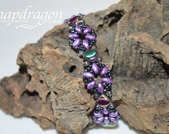 Little Ditties bracelet- beaded purple bracelet