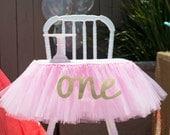 Pink Tutu High Chair Skirt