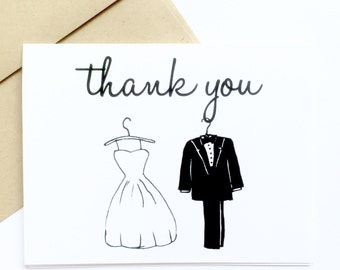 Thank You From the Bride and Groom - Wedding Shower Thank You Cards - Thank You From the Bride To Be - Thank You from Future Bride and Groom