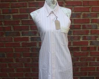 Up-Cycled Men's shirt apron/ Women's Apron