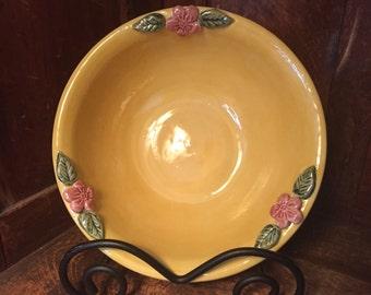 Cherry Blossom Yellow Bowl