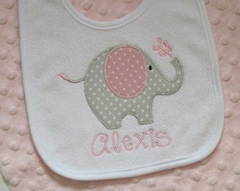 Personalized  Baby Girl Bib