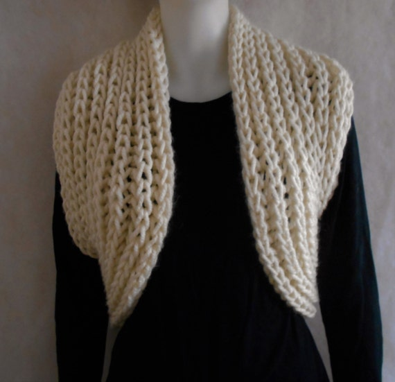 Knitting Pattern Infinity Scarf Bulky : PDF KNITTING PATTERN for easy knit super chunky bulky ...