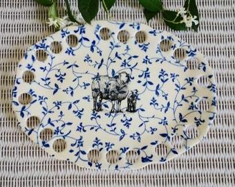 Ewe Dish -  Screen Printed Handmade Pottery