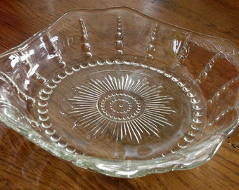 1930's Federal Glass Columbia Bowl & Cup Set