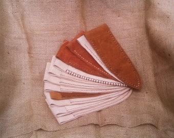 Handmade Handsewn Leather Belt Knife Sheath(s) by Heidi Clauson