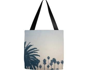 Echo Park tote, Los Angeles bag, Palm Tree tote, Grocery sack, teacher tote, gym bag, beach bag, yoga gear, diaper bag, gifts, birthday, Mom