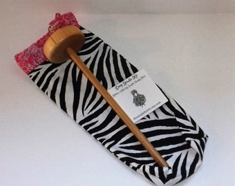 Drop Spindle Starter Kit - Zebra