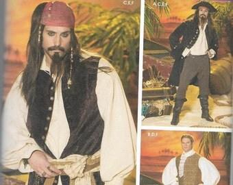 4923 Simplicity Mens Pirate Costume Sewing Pattern Sizes L,XL UNCUT