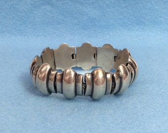 Mexican Silver Bracelet Taxco Style Sterling Silver Linked Bracelet Mexico Jewelry  MicheleACaron