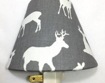 Woodland Deer Night Light / Hallway / Baby Shower Gift / Nursery Decor / Kid's Bedroom / Plug In Night Light / Forest Animals / Bambi / Horn