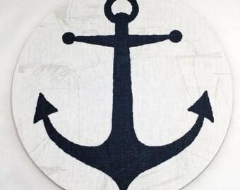 Anchor Nautical Mouse Pad / Computer / Office Decor / Coworker Gift / Home Decor / Teacher Gift / Office Supplies / Desk Decor / Ocean / Sea