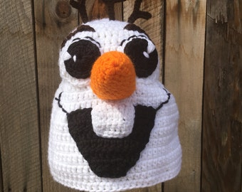 Inspired OLAF Frozen Snowman Character Hat