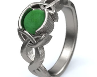 jade engagement ring sterling silver celtic knot ring unique engagement ring handcrafted in - Jade Wedding Ring