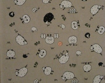 """Sheep fabric from UK - Natural / 18"""" x 20"""" for one"""