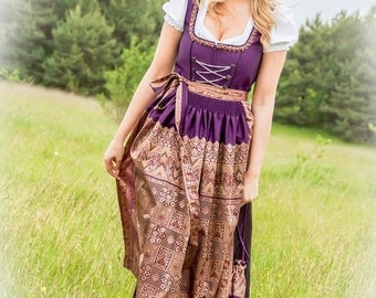 """Bavarian handcrafted couture dress """"Rajani"""" - Size 38 - SINGLEPIECE"""