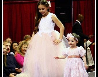 Bella Alencon & tulle gown size 8