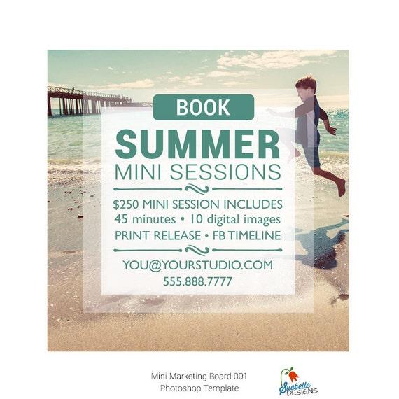 Mini Sessions Template 5x5 Mini Marketing Board Photoshop Template