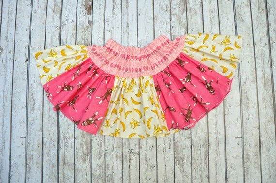Bananas & Monkeys Twirl Skirt 2/3