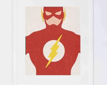 Flash Superhero,  Digital Printable