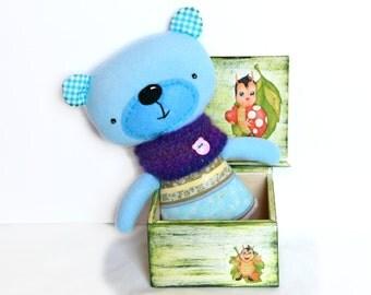 Stuffed teddy bear, toddler gift, stuffed toy, waldorf toy, gift for kids, plush toy, soft toy, stuffed animal, plush bear, plushie