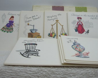 43 postcard vintage all occasion card greeting post a note message lot