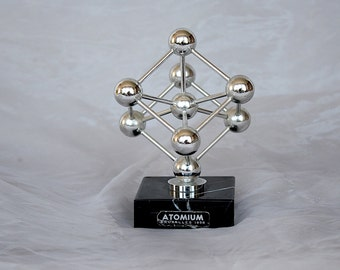 Atomium Brussels - Atomic Age Decor - Atomic Model - Atomic Sculpture - Vintage Modern Decor -Unique Gift Idea - Paperweight -Science Decor