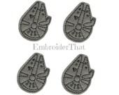UNCUT Starship space alien war appliqué embellishment feltie patches (4)