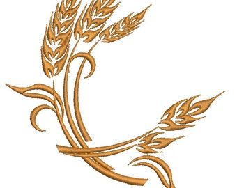 ears of wheat  Machine Embroidery Designs