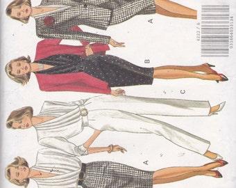 Butterick 4222 Vintage Pattern Womens Jacket, Blouse, Slim Skirt and Pants Size 6,8,10 UNCUT